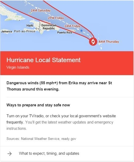 Google steps farther into the weather business with new hurricane tracker | Educational technology , Erate, Broadband and Connectivity | Scoop.it