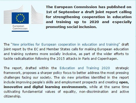 New priorities for European cooperation in education and training | EU | Europe | osez la médiation | Scoop.it