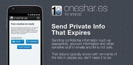 Oneshar.es et votre message s'autodétruira après lecture!   Veille TIC PACA   Scoop.it