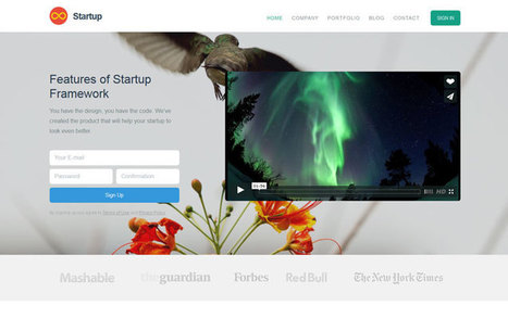 Free Bootstrap Themes and Templates | Web mobile - UI Design - Html5-CSS3 | Scoop.it