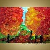 BEAUTIFUL FALL Original Modern Abstract Trees Landscape Autumn Landscape Acrylic Painting ACEO Miniature : Art by Luiza Vizoli, Abstract art, Abstract art paintings, original abstract paintings, fi...   Original-Painting   Scoop.it
