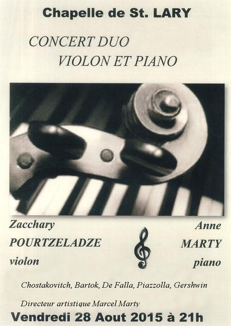 Concert duo violon & piano à Saint-Lary le 28 août | Vallée d'Aure - Pyrénées | Scoop.it