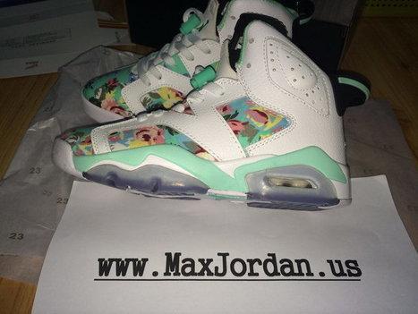 Women Air Jordan 6 White Blue Flower Sneaker,Discount nike air jordan 6 white blue shoes online sale | nike sneaker store | Scoop.it