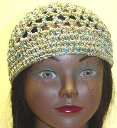 Cp72, Hand Crocheted Multi Color Metallic Gimp Skull Cap for Men Women and Teens   My Notes   Scoop.it