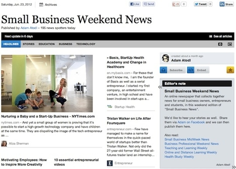 June 23 - Small Business Weekend News | Business Futures | Scoop.it