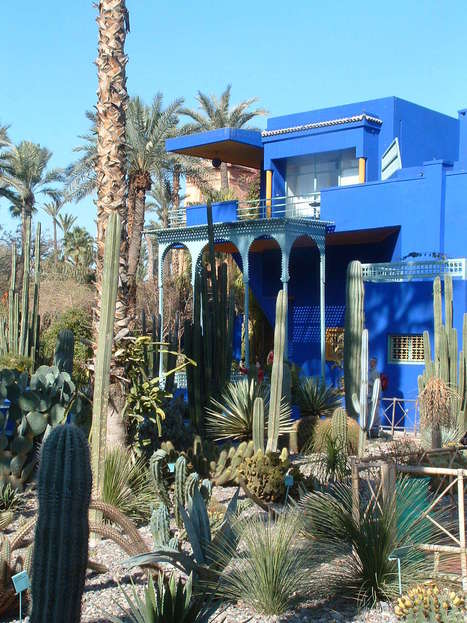 """The """"Jardin Majorelle' listed amoung 10 Of The World's Most Beautiful Gardens by the Huffington Post 