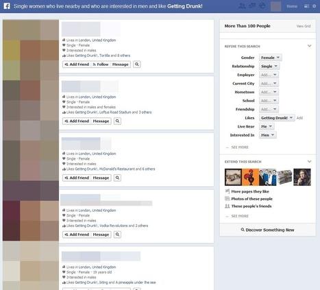 Quoi.info - L'actualité expliquée - Les drôles de résultats du Facebook Graph Search   graph search facebook   Scoop.it