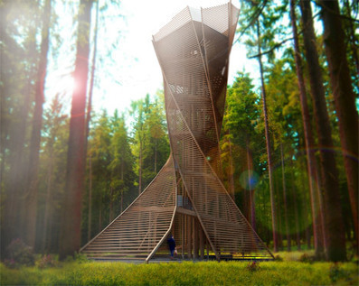 A Twisting Observation Tower at an Italian Forest | Communication design | Scoop.it