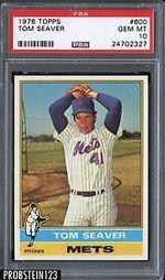 1976 Topps 600 Tom Seaver HOF New York Mets PSA 10 Gem Mint | eBay | The Hottest PSA 10 Sports Cards on eBay | Scoop.it