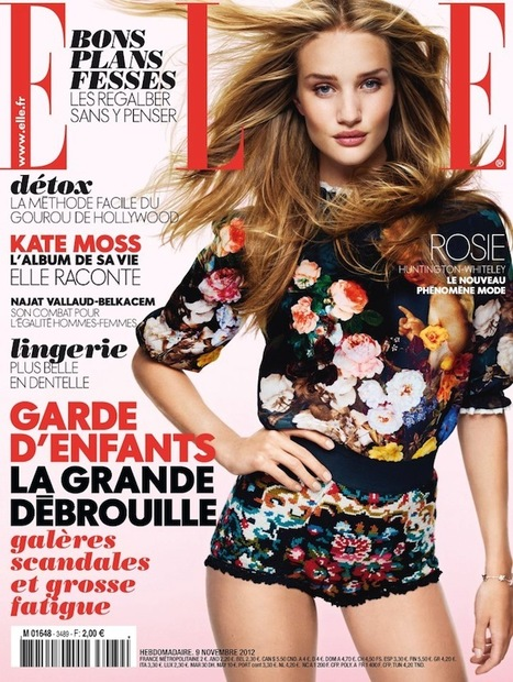 [cover] Rosie Huntington-Whiteley (Elite Model NY) by David Vasiljevic for Elle France | Nov. 9/15 2012 | Fashion & more... | Scoop.it