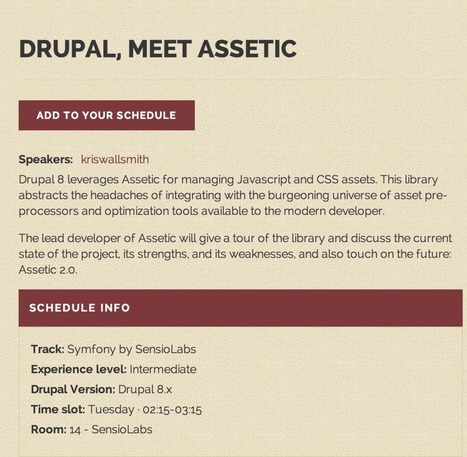 Drupal8.x and Symfony – Asset Component: Part IV Series | Craft It Online! | Sergio Lima | Scoop.it