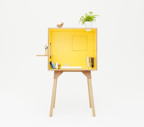 Un petit bureau en bois design, pratique et coloré ! | DecoCrush blog déco, idées déco | décoration & déco | Scoop.it