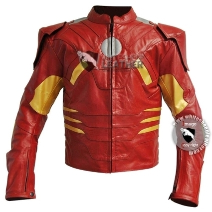 Avengers Iron Man Mark 7 costume leather jacket | movie leather jackets | Scoop.it