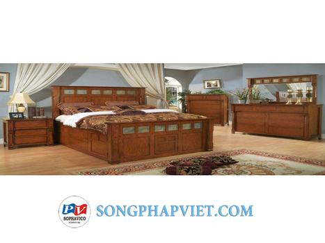 Bộ phòng ngủ giường hộp SPV295T | bo phong ngu | Đồ Gỗ Song Pháp Việt | Hello coopit | Scoop.it