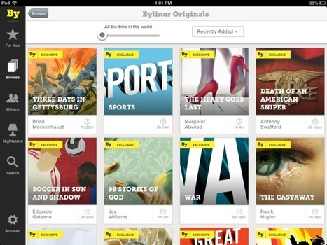 Byliner's new iPad app aims to find your next long read | Ebook and Publishing | Scoop.it