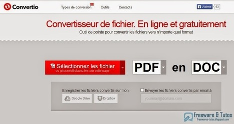 Convertio : Convertisseur de fichiers en ligne gratuit et multi-formats | netnavig | Scoop.it