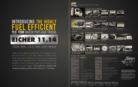 Eicher 11.14 Technical Specifications   Fuel Efficient Trucks   Scoop.it