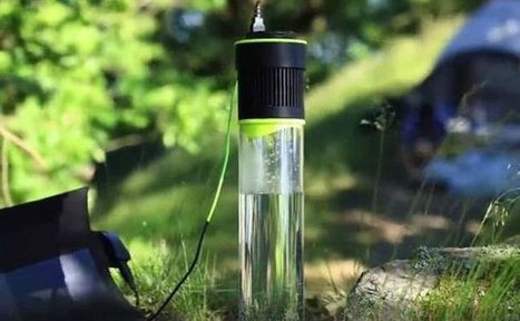 Take A Look At This Self-Filling Water Bottle That Turns Air Into Drinkable Water | Futurewaves | Scoop.it