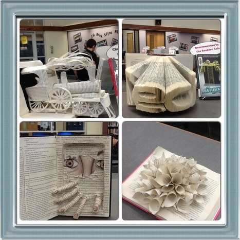 Book Art in the Learning Commons! | Librarians in the real world | Scoop.it