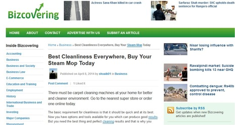 Best Cleanliness Everywhere, Buy Your Steam Mop Toda   Steam Mops   Scoop.it