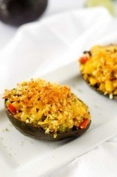 Cheesy Black Bean & Quinoa Stuffed Avocados - Wendy Polisi | Nutrition | Scoop.it
