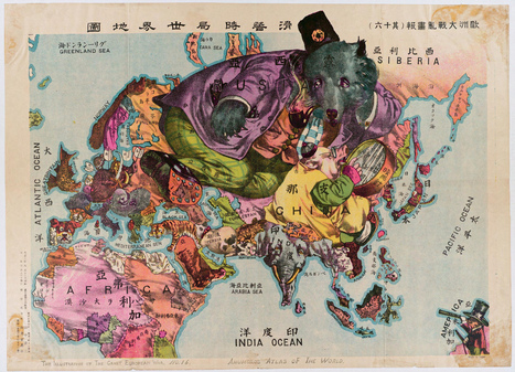 Cartoon Animal Map of Asia and Europe | Map@Print | Scoop.it