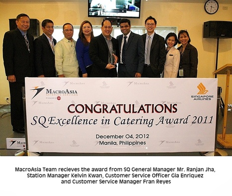 MacroAsia Catering Services wins the Singapore Airlines Excellence in Catering Award 2011 – Top Travel Articles | Top Travel Articles | Scoop.it