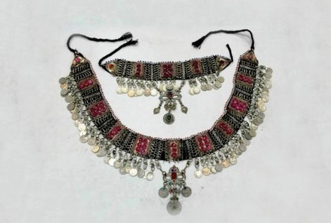 Afghan Kuchi Tribal Variety Belt And Necklace Belly Fusion Jewelry Set | Buy Belly Dance Jewelry Tribal Fusion Bellywood | Scoop.it