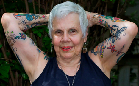 Aging with Attitude: Inked Rebel Helen Lambin | Senior Planet | Longevity Strategies | Scoop.it