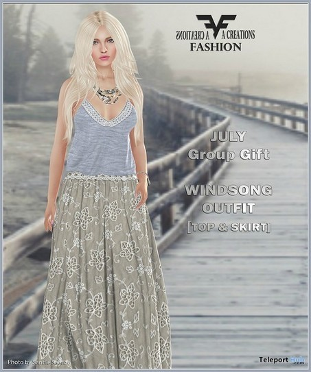 Windsong Outfit July 2016 Group Gift by FA CREATIONS | Teleport Hub - Second Life Freebies | Second Life Freebies | Scoop.it