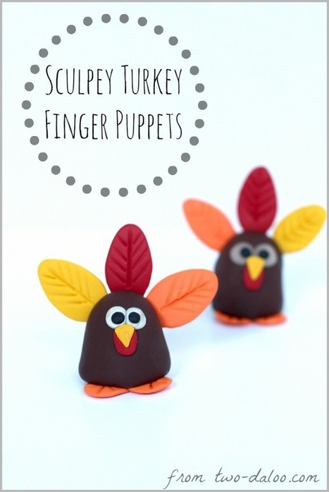 Sculpey Turkey Finger Puppet | Kids Craft | Scoop.it