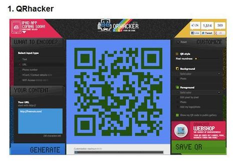 10 gratis webtools om mooie gekleurde QR-codes te maken | IPAD, inzetten in de klas | Scoop.it