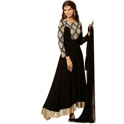 Fine Looking Black Georgette Party Wear Anarkali Kameez | Designer Salwar Kameez | Party Wear Salwar Kameez | Bollywood Churidar Salwar Kameez | Scoop.it