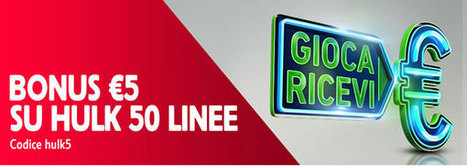 Gioca €5 e godi subito di €5 sfruttando la slot Hulk 50linee | Online Slots | Scoop.it
