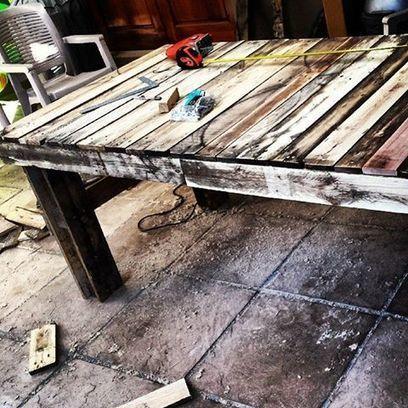 Wooden pallet table | furniture | Scoop.it