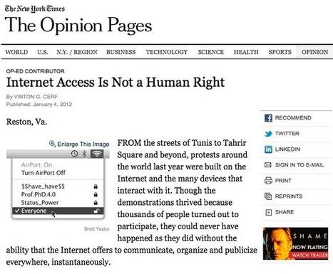 L'accesso a Internet è un diritto umano – GBLOG | Open All :) | Scoop.it