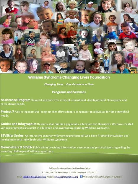 Williams Syndrome Changing Lives Foundation Flyer | Williams syndrome | Scoop.it