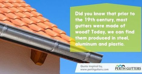 A Little History on Gutters | Infographic Collection | Scoop.it