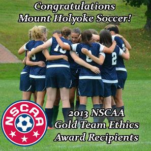 Soccer Garners NSCAA Gold Team Ethics Award - Mount Holyoke ... | Sports Ethics: Keys, W. | Scoop.it