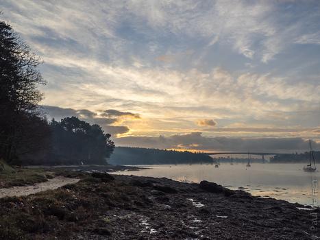 photo en Finistère, Bretagne et...: 7 janvier, début de journée paisible sur l'Odet... (6 photos) | photo en Bretagne - Finistère | Scoop.it