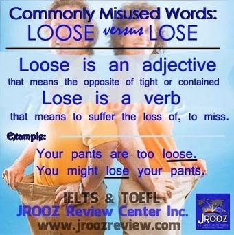 Lose vs Loose - Pinagkaiba - The Differences Between | English Grammar Proficiency Training | Scoop.it