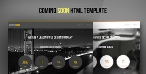 ComingSoon - HTML5 CSS3 Template - Wordpress Themes | Themes4Free | Scoop.it