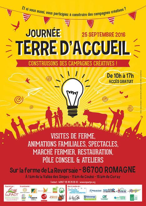 TERRE D'ACCUEIL : construisons des campagnes créatives le 25 septembre ! [Romagne - 86] - InPACT PC | Créativité et territoires | Scoop.it