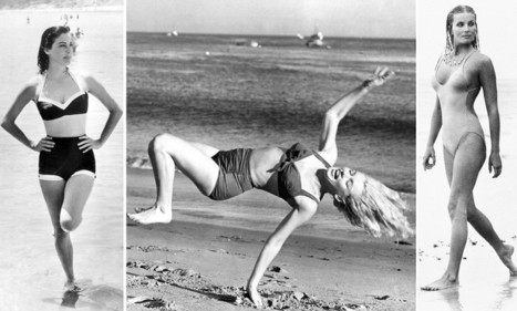 Life's a beach! Sizzling sirens of Hollywood's Golden Age including Marilyn Monroe and Ava Gardner captured frolicking in the L.A. surf in glamorous black and white photo album | Retro Life | Scoop.it