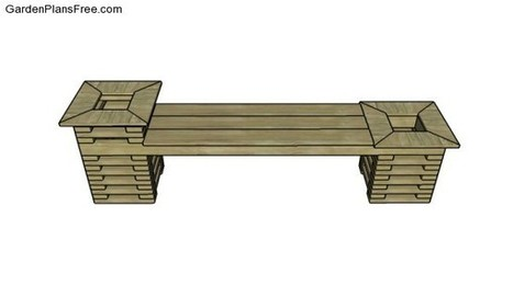Free Outdoor Bench Plans | Free Garden Plans - How to build garden projects | Garden Plans | Scoop.it