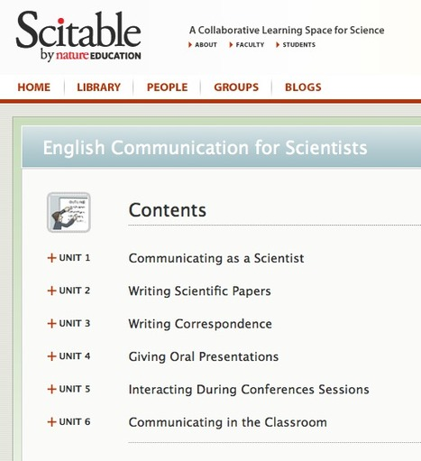 English Communication for Scientists | Learn Science at Scitable | TELT | Scoop.it