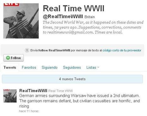 Ex-estudiante de historia recrea la 2ª GM desde Twitter | II Guerra Mundial-Daniel Vázquez | Scoop.it