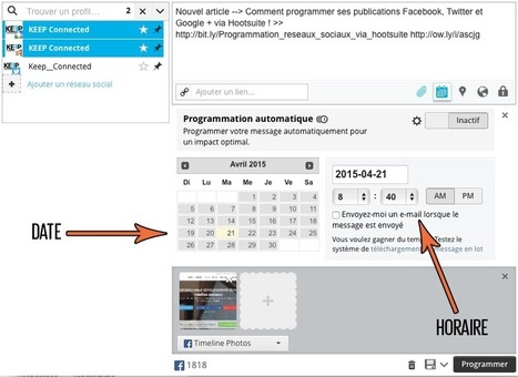 Comment programmer ses publications via #Hootsuite ? | Time to Learn | Scoop.it