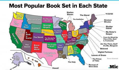 The Most Popular Book Set in Each State — in One Surprising Map | Writing Rightly | Scoop.it