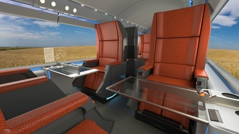 "One firm pictures the Hyperloop with swanky first-class cabins | L'impresa ""mobile"" 
